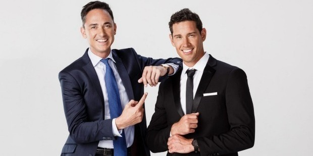 Dominic Bowden with The Bachelor Zac Franich. Photo / Supplied