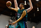 Brook Ruscoe of the Super City Rangers shoots during an NBL game. Photo / Photosport