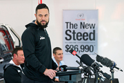 Joseph Parker, questioned during a press conference with new opponent Razvan Cojanu in Auckland, is on the brink of far bigger paydays. Photo / Photosport