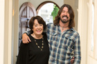 Virginia Hanlon Grohl and son Dave Grohl. Photo / Supplied