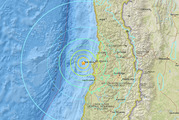 7.1 magnitude earthquake recorded off the coast of Chile. Photo / USGS