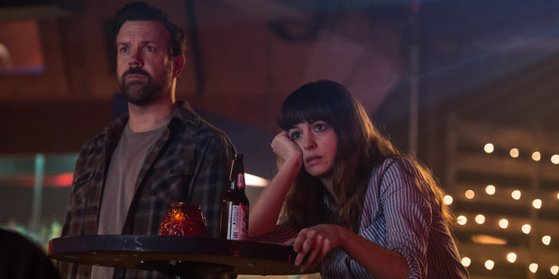 Jason Sudeikis and Anne Hathaway star in Colossal