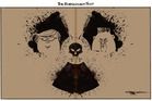 The Rorschach Test for North Korea. Illustration / Rod Emmerson
