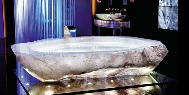 Bathing in luxury: The glimmering centrepieces were crafted by Florence-based company Baldi Home Jewels. Photo / XXII Carat