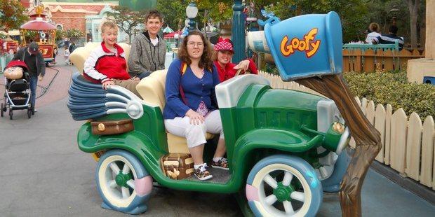 Rebecca will never forget her Disneyland visit. Photo / Facebook, Rebecca Sharrock