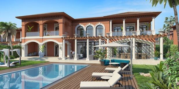 Mediterranean style: A rendering shows what the finished holiday complex will look like. Photo / XXII Carat