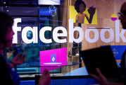 A demo booth at Facebook's annual F8 developer conference in San Jose, California. Photo / AP