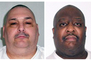 Death-row inmates Jack Jones, left, and Marcel Williams. Photos / AP