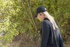 Russian tennis player Maria Sharapova is on her way to a training session after the end of her 15-month doping suspension. Photo / AP