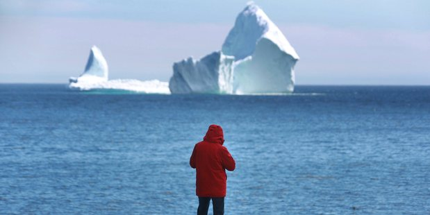 The towering iceberg is wowing residents and tourists. Photo / AP