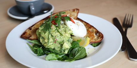 Smashed avo is a favourite brunch dish but often exceeds the recommended 50g serving of avocado. Photo / NZ Herald