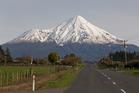 Mt Taranaki, viewed from near Stratford. Photo/Mark Mitchell