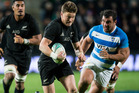 The Lions need to target All Blacks first-five Beauden Barrett according to Nick Evans. Photo / Jason Oxenham