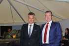 Kiwi actor Shane Cortese (left) is working as a real estate agent for NZ Sotheby's in Takapuna. Photo / Norrie Montgomery