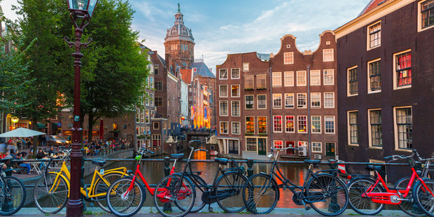 Amsterdam is synonymous with bicycles. Photo / Supplied