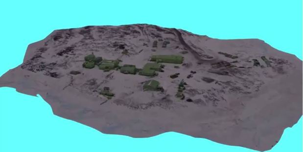 Loading Anthony Powell has been using photogrammetry software to build a 3D model of Scott Base.
