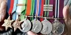 John Carr's war medals. Photo / Geoff Sloan