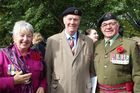 Josephine Seymour, Roly Ellis, president of the Dannevirke and Districts RSA, and Honorary Colonel (Rtd) Ray Seymour, MBE, 1st Battalion Royal New Zealand Infantry Regiment.