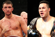 The pair called off Hughie's fight following an alleged back injury. Photo / Getty