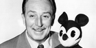The American cartoonist and director Walt Disney with a plush puppet of Mickey Mouse in the 1950s. Photo / Getty