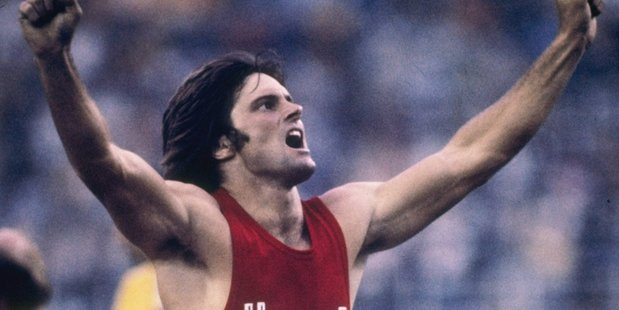 Bruce Jenner of the USA celebrates during his record setting performance in the decathlon in the 1976 Summer Olympics in Montreal, Canada. Photo / Getty