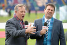 Channel Nine commentators Ian Healy and Mark Taylor. Photo / Getty