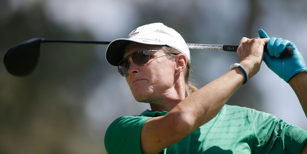 Former Olympian and television personality Bruce Jenner hits a tee shot during a golf tournament. Photo / Getty