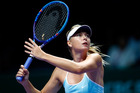 Maria Sharapova in action during the BNP Paribas WTA Finals at Singapore Sports Hub. Photo / Getty Images