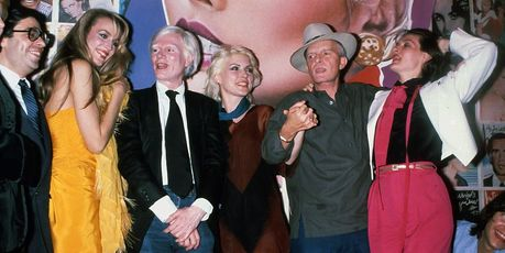Jerry Hall, Andy Warhol, Debbie Harry, Truman Capote and Paloma Picasso at Studio 54 in New York City. Photo / Getty