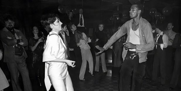 Liza Minnelli and Sterling St. Jacques hit the dance floor at Studio 54 in 1977. Photo / Getty