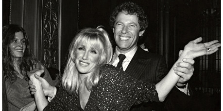 Suzanne Somers and husband Alan Hamel at Studio 54 circa 1978. Photo / Getty