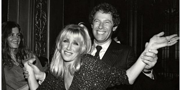 Suzanne Somers and husband Alan Hamel at Studio 54 circa 1978. Photo / Getty