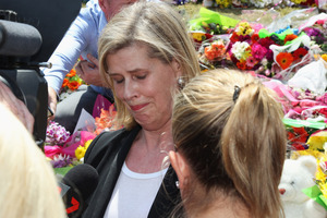 Ardent Leisure CEO Deborah Thomas after a private memorial was held at Dreamworld on October 28, 2016 after the tragedy where four people died on a ride. Photo / Getty Images