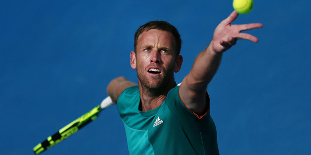 Michael Venus during the ASB Classic on January 9, 2017. Photo / Getty Images
