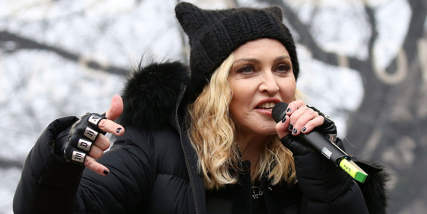 Madonna performs onstage during the Women's March on Washington on January 21, 2017 in Washington, DC. Photo / Getty