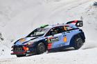 Hayden Paddon during WRC Sweden. Photo / Getty Images