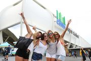 Fans arrive for the round three NRL match between the Gold Coast Titans and the Parramatta Eels. Photo / Getty