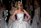A model walks the runway wearing Reem Acra at Tiffany & Co. Photo / Getty Images