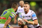 Jackson Hastings in action for the Manly Sea Eagles. Photo / Getty Images.