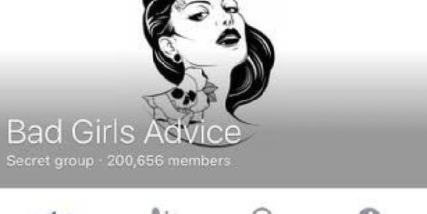 Bad Girls Advice has more than 200,000 members. Photo / Supplied