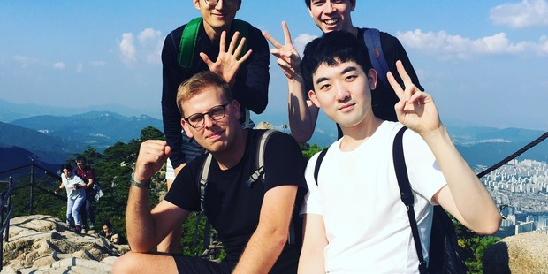 Matthew Williams, 27, is living in Seoul, South Korea. Photo: Supplied