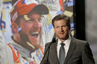 Dale Earnhardt Jr. speaks during a news conference at Hendrick Motorsports. Photo / AP