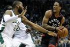 Toronto Raptors' DeMar DeRozan drives against Milwaukee Bucks' Greg Monroe. Photo / AP