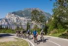 In Riva del Garda, Italy, mountain bike trails are accompanied by breathtaking scenery. Photo / Supplied