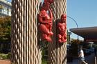 Hinemoa and Tutanekai carvings reinstalled in Rotorua's City Focus. Photo/File