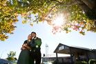 Couple Jessi Kotze, 21 and Francisco Larrea, 27, work at Millenium Hotel. Photo / Stephen Parker