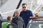 Director of the FBI James Comey disembarks a Gulfstream jet at Queenstown airport. Photo / Brett Phibbs