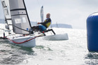 New Zealand sailor Rex Sellers competes at the World Masters Games. Photo / Nick Reed