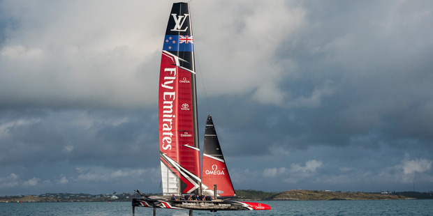 Loading The Emirates Team New Zealand America's Cup Class race boat. Photo / Supplied