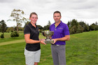 Alanna Campbell and Mark Brown after winning Carrus Tauranga Open titles on Sunday. Photo / NZ Golf Magazine